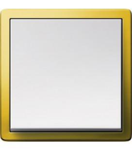 Выключатель в сборе GIRA серии F100, латунь/глянцевый белый
