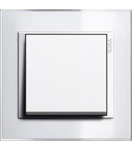 Выключатель одноклавишный в сборе GIRA серии Event Clear, белый