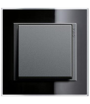 Выключатель в сборе GIRA серии Event Clear, черный