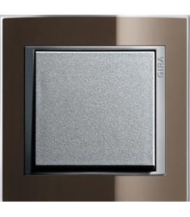 Выключатель в сборе GIRA серии Event Clear, коричневый