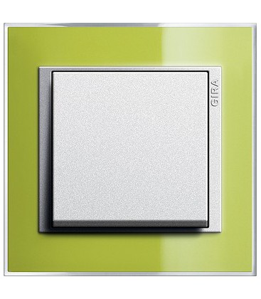 Выключатель в сборе GIRA серии Event Clear, зеленый