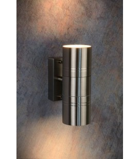 Lucide ARNE Outdoor Wall lamp 2x GU10/35W Satin chrome, 14867/22/12