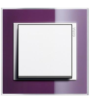 Выключатель в сборе GIRA серии Event Clear, фиолетовый
