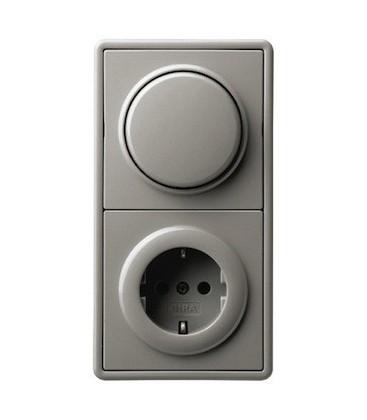 Выключатель и Розетка в сборе GIRA серии S-Color, серый