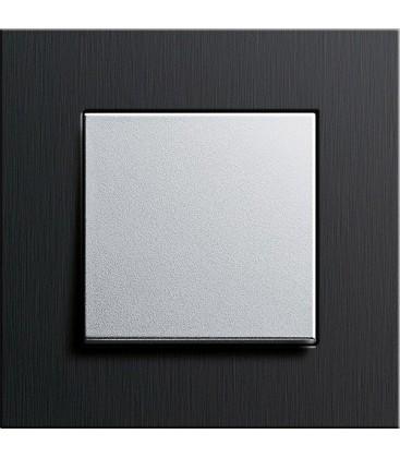 Выключатель в сборе GIRA серии Esprit, черный алюминий