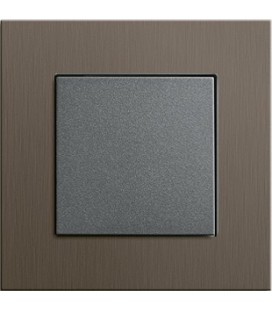 Выключатель в сборе GIRA серии Esprit, коричневый алюминий
