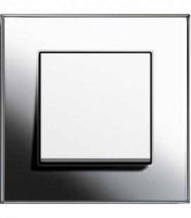 Выключатель в сборе GIRA серии Esprit, хром