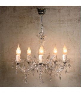 Lucide ARABESQUE Chandelier 5xE14/40W Clear, 78351/05/60