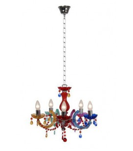 Lucide ARABESQUE Chandelier 5xE14/40W Multicolor, 78351/05/99