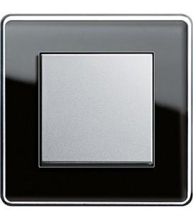 Выключатель в сборе GIRA серии Esprit Glass C, черное стекло
