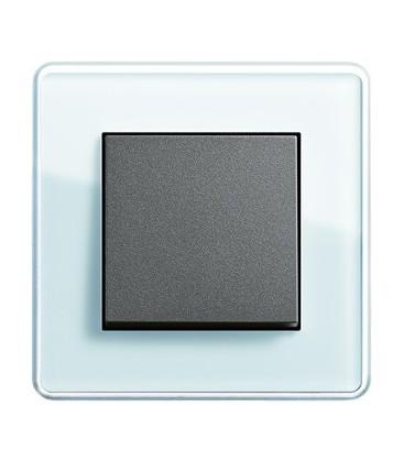 Выключатель в сборе GIRA серии Esprit Glass C, салатовое стекло