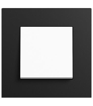 Выключатель в сборе GIRA серии Esprit Linoleum-Multiplex, антрацит
