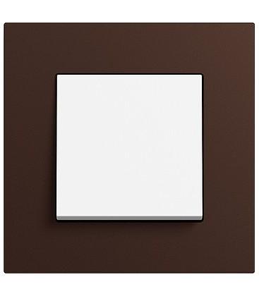 Выключатель в сборе GIRA серии Esprit Linoleum-Multiplex, коричневый