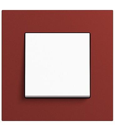 Выключатель в сборе GIRA серии Esprit Linoleum-Multiplex, красный
