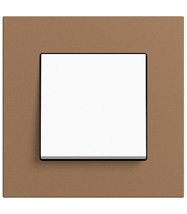 Выключатель в сборе GIRA серии Esprit Linoleum-Multiplex, светло-коричневый