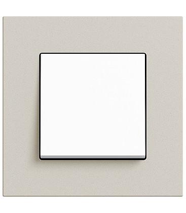 Выключатель в сборе GIRA серии Esprit Linoleum-Multiplex, светло-серый