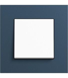 Выключатель в сборе GIRA серии Esprit Linoleum-Multiplex, синий