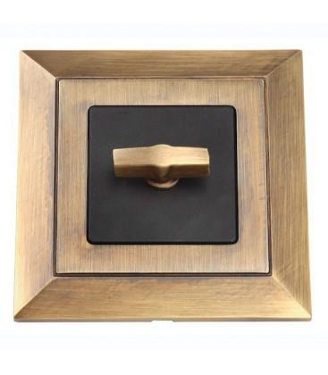 Поворотный выключатель в сборе FEDE коллекция Barcelona, Matt Patina
