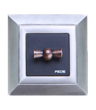 Поворотный выключатель в сборе FEDE коллекция Barcelona, Nickel Satin
