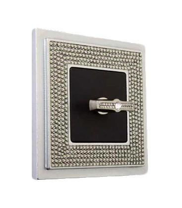 Поворотный выключатель в сборе FEDE коллекция Crystal De Luxe ART, Bright Chrome