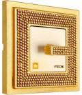 Поворотный выключатель в сборе FEDE коллекция Crystal De Luxe ART, Real Gold