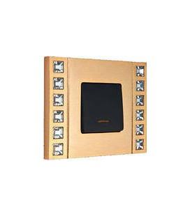 Выключатель в сборе FEDE коллекция Crystal De Luxe Velvet, Real Gold