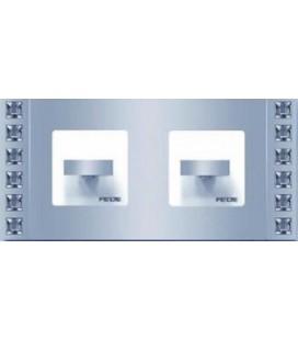 Поворотный выключатель в сборе FEDE коллекция Crystal De Luxe SAND, Bright Chrome