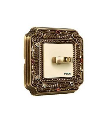 Поворотный выключатель в сборе FEDE коллекция Crystal De Luxe PALACE, Bright Patina
