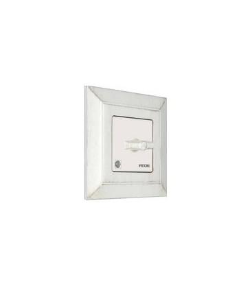 Поворотный выключатель в сборе FEDE коллекция Provence Barcelona, White Decape