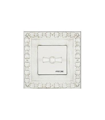 Поворотный выключатель в сборе FEDE коллекция Provence San Sebastian, White Decape