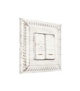 Двухклавишный выключатель в сборе FEDE коллекция Provence Sevilla, White Decape