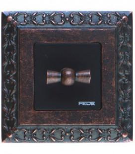 Поворотный переключатель в сборе FEDE коллекция San Sebastian, Rustic Copper