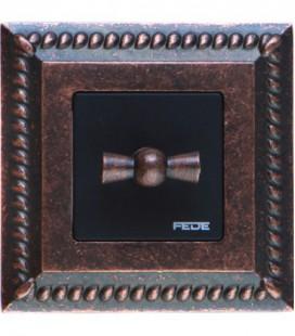 Поворотный выключатель в сборе FEDE коллекция Sevilla, Rustic Cooper
