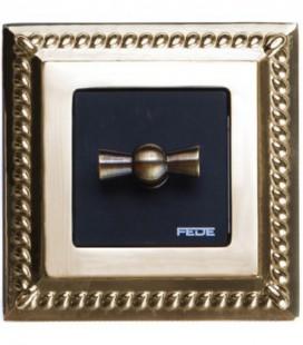 Поворотный выключатель в сборе FEDE коллекция Sevilla, Bright Gold
