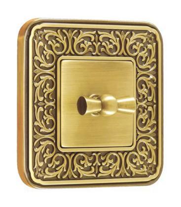 Поворотный выключатель в сборе FEDE коллекция EMPORIO, Bright patina