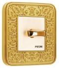 Поворотный выключатель в сборе FEDE коллекция EMPORIO, Bright gold