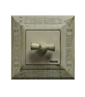 Поворотный выключатель в сборе FEDE коллекция Granada, White Decape