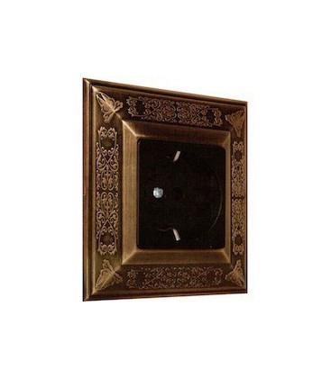 Розетка в сборе FEDE коллекция Granada, Bright Patina
