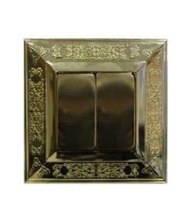 Выключатель в сборе FEDE коллекция Granada, Bright Gold