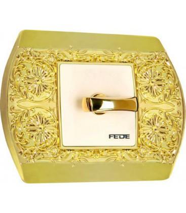 Поворотный выключатель в сборе FEDE коллекция Sanremo, Bright Gold