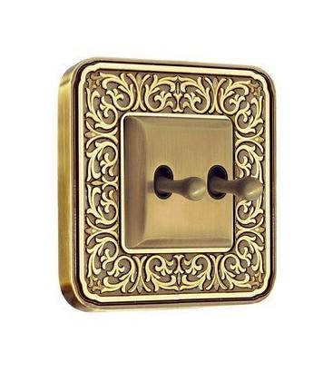 Тумблерный выключатель в сборе FEDE коллекция EMPORIO, Bright Patina