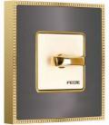 Поворотный выключатель в сборе FEDE коллекция BELLE EPOQUE METAL GOLD, Graphite + Bright Gold