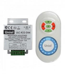 Комплект контроллера с пультом ДУ для светодиодных лент ULC-R22-DIM, белый