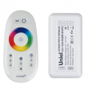 Комплект контроллера с пультом ДУ для светодиодных лент ULC-G50-RGBW, белый