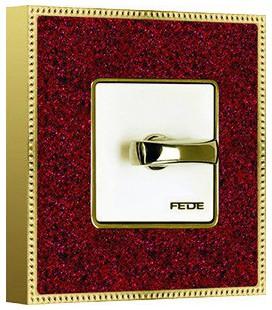 Поворотный выключатель в сборе FEDE коллекция BELLE EPOQUE CORINTO, Pompeired-Bright Gold