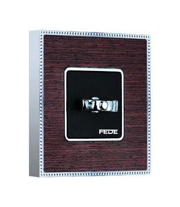 Поворотный выключатель в сборе FEDE коллекция BELLE EPOQUE WOOD, Wenge-Bright Chrome