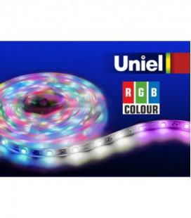 Светодиодная лента ULS-5050-60LED/m-10mm-IP20-DC12V-14,4W/m-5M-RGB катушка в герметичной упаковке