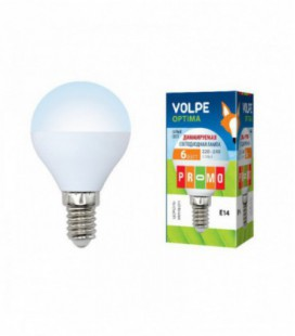 Светодиодная лампа диммирруемая серии Optima Dimmable LED-G45-6W/NW/E14/FR/DIM/O