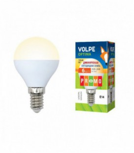 Светодиодная лампа диммирруемая серии Optima Dimmable LED-G45-6W/WW/E14/FR/DIM/O