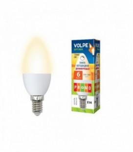 Светодиодная лампа диммирруемая серии Optima Dimmable LED-C37-6W/WW/E14/FR/DIM/O
